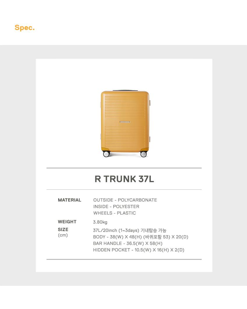 로우로우(RAWROW) R TRUNK 921 FRAME 37L MUSTARD